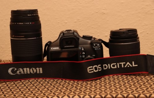 Canon EOS 1100D + 18-55mm + 70-300mm